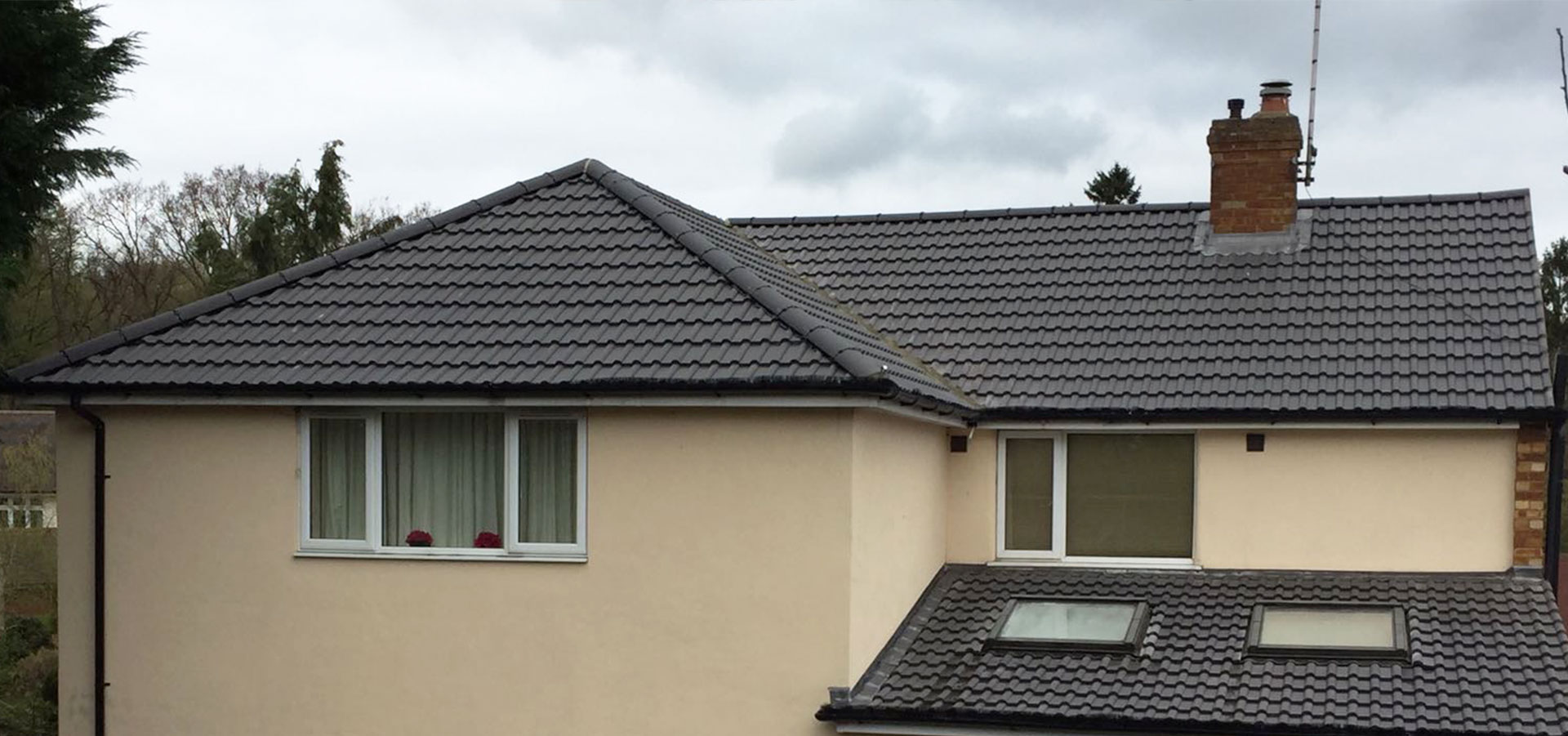 Residential property roofing project