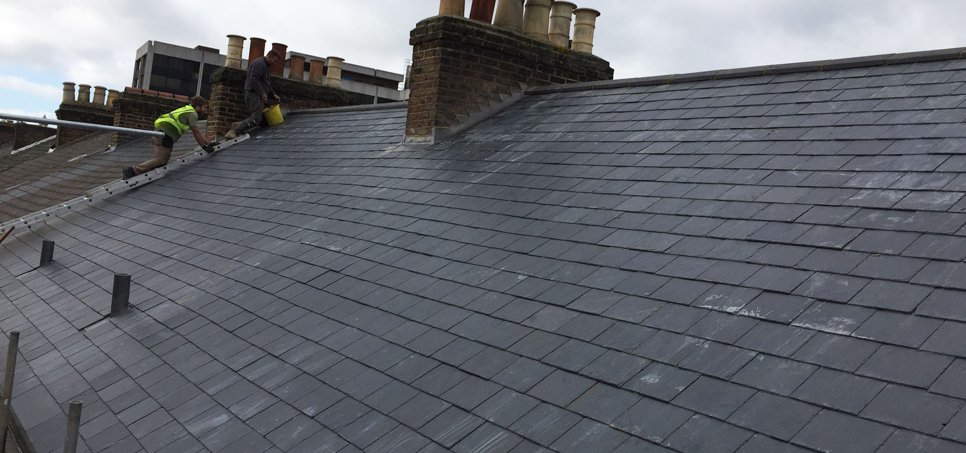 Slate roof roofing project